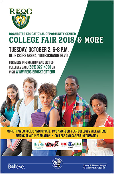 college fair, College Fair 2018, Rochester Educational Opportunity Center
